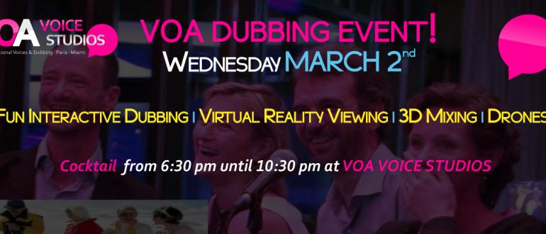 VOA MIami Dubbing Event
