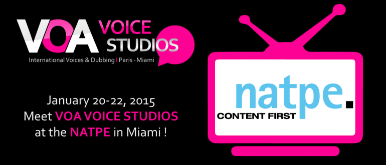 VOA VOICE STUDIOS at the NATPE Miami
